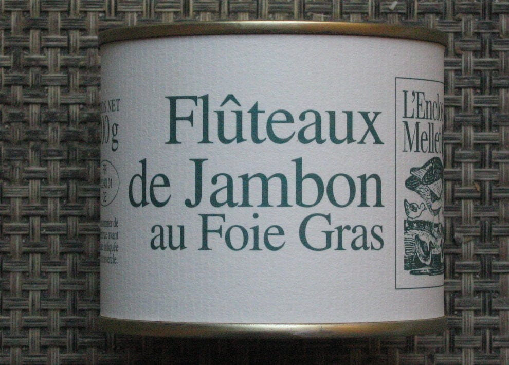 Flûteaux de jambon au foie gras